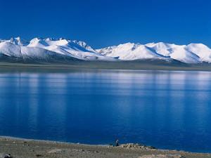 Rios verdes y cielo azul del Tibet
