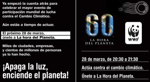 La Hora del Planeta 2009: 28 de marzo ¡Apaga la luz enciende el planeta!