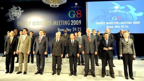 G8 a favor del desarrollo de alternativas energéticas ecológicas para promover la recuperación económica mundial