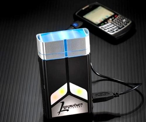 Pequeño cargador de dispositivos móviles que funciona con una pila de combustible de butano