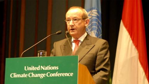 Yvo de Boer, secretario de la convención de la ONU contra el calentamiento global