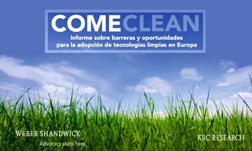 Come Clean: Informe sobre La adopción de tecnologías límpias en Europa
