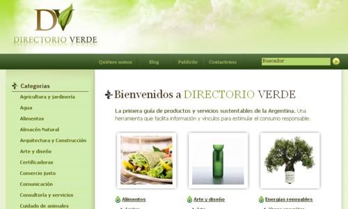 Directorio Verde, con la oferta argentina de productos y servicios amigables con el medio ambiente