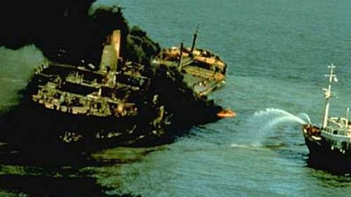 Burmah Agate, derrame de petróleo en el Golfo de México