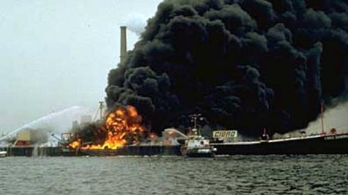 Cibro Savannah, derrame de petróleo en Linden, Nueva Jersey