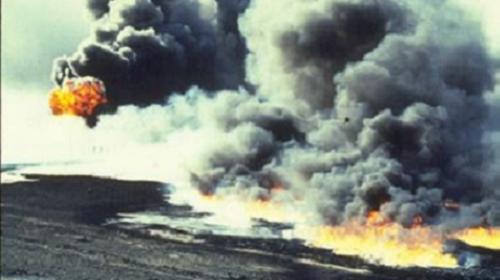 Derrames de petróleo en el Golfo Arábigo durante la guerra en Kuwait