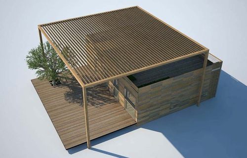 Edificio de la organización de Solar Decathlon Europe en la Villa Solar