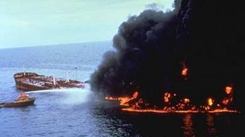 Megaborg, derrame de petróleo en Galveston, Texas