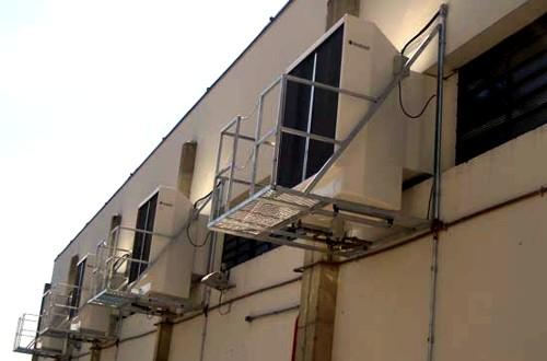 Instalación industrial de climatizador evaporativo