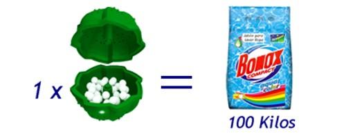 Una Eco-Bola equivale a cien kilos de jabón