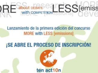 Más con Menos (emisiones). Concurso para promover el pensamiento sostenible en la juventud europea