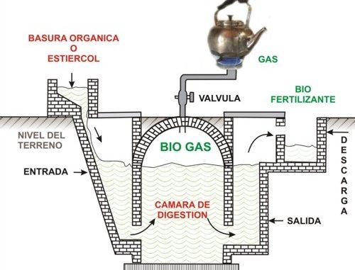 Bidigestores. Modelo de biodigestor para producir biogás