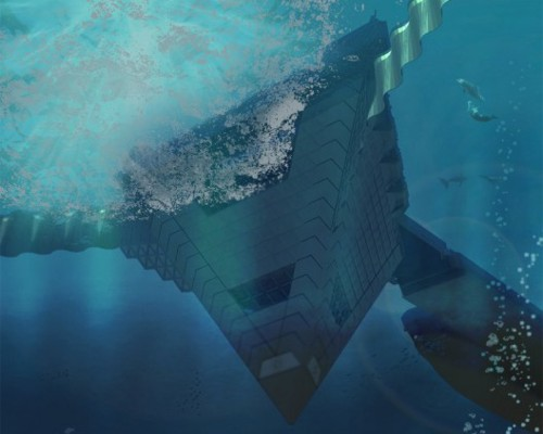 Plataforma flotante descontaminante