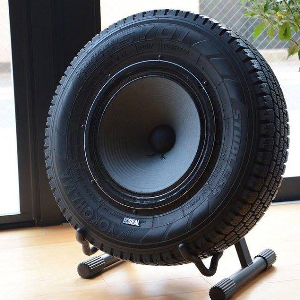 Un Subwoofer para reciclar tu neumático viejo