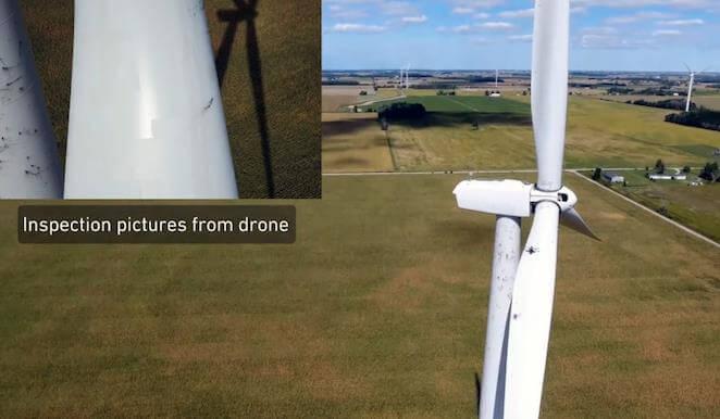 Foto de inspección de un drone