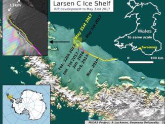 Plataforma Larsen C y un destino de ruptura irremediable