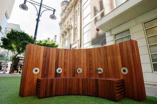 CleanAir bench, un banco que limpia los contaminantes del aire