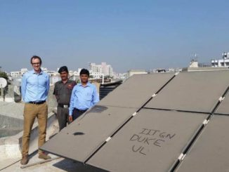 La polución del aire afecta a la energía solar