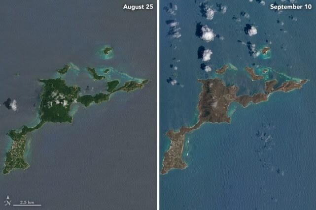 Isla Virgen Gorda golpeada por el huracán Irma