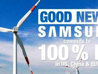 Samsung y energías renovables