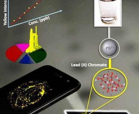Detectar plomo en el agua con un smartphone