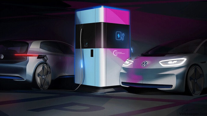 Estaciones de carga móviles de Volkswagen para vehículos eléctricos