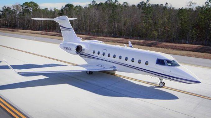 El Gulfstream G280 establece récord usando biocombustible