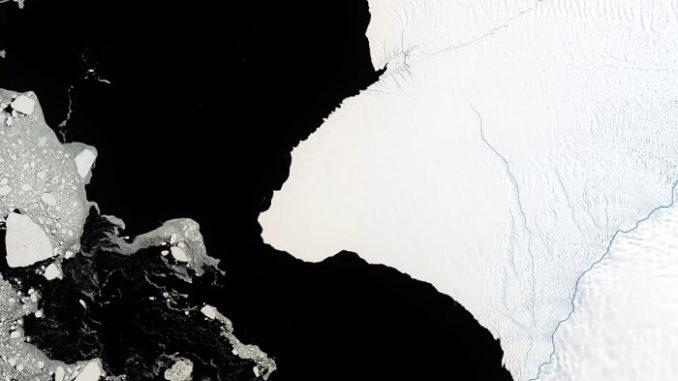 La plataforma de hielo Brunt de la Antártida pronto podría lanzar un iceberg gigante.