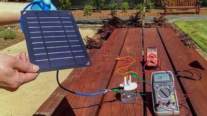 Un prototipo de dispositivo que utiliza energía solar para crear combustible de hidrógeno a partir de agua de mar
