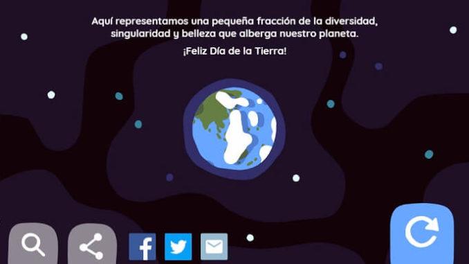 Día de la Tierra. 22-04-2019. Doodle de Google.