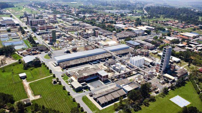 Planta de BASF en Guaratinguetá, Brasil.