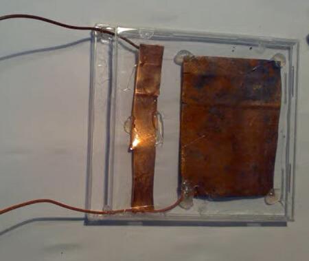 Celda fotovoltaica casera - Paso 4