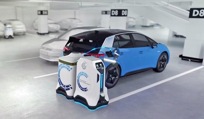 MCR de Volkswagen para cargar un EV en cualquier estacionamiento