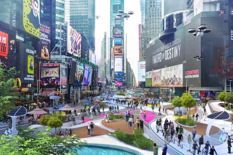 ¿Cómo sería el Times Square sin automóviles?